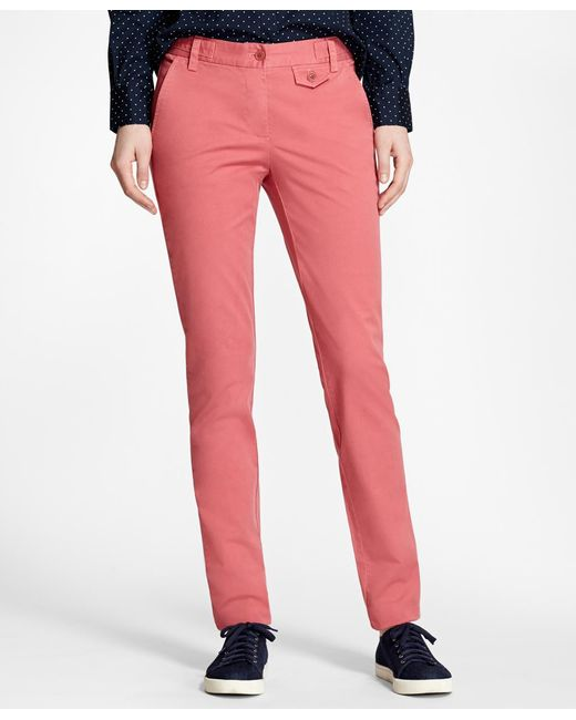 Brooks Brothers - Multicolor Stretch-cotton Twill Pants - Lyst