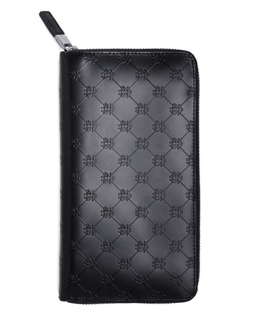 Brooks Brothers | Black Golden Fleece® Embossed Travel Wallet for Men | Lyst
