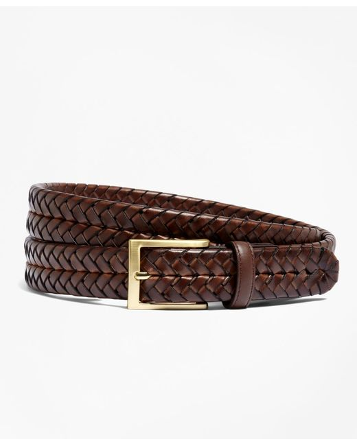 Brooks Brothers | Purple Leather Braided Belt for Men | Lyst