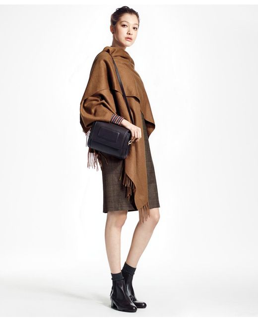 Brooks Brothers - Brown Cashmere Ruana - Lyst
