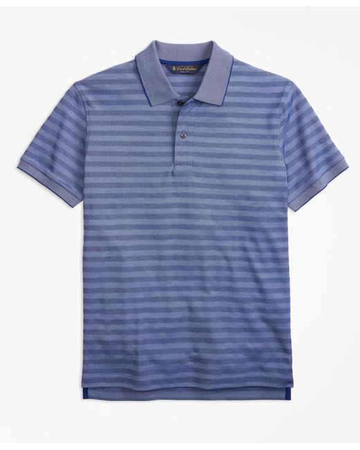 Brooks Brothers - Blue Original Fit Textured Stripe Polo Shirt for Men - Lyst