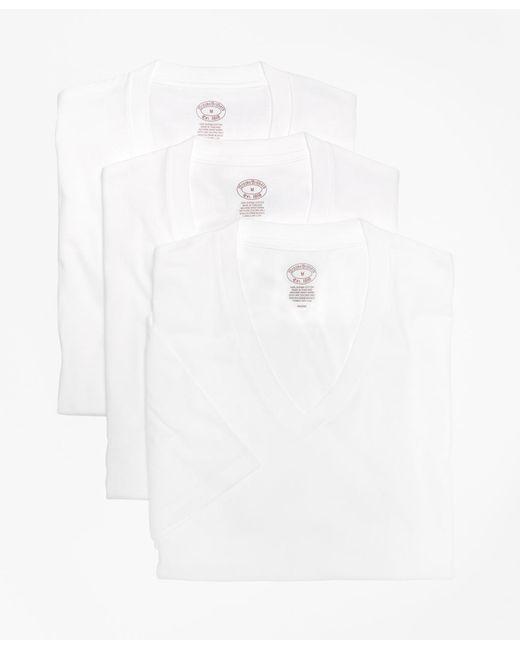 Brooks Brothers - White Supima® Cotton V-neck Undershirt - Three Pack for Men - Lyst