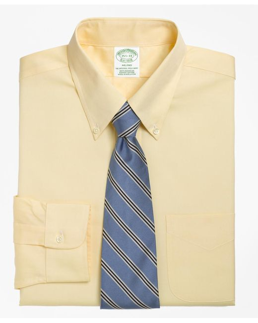 Brooks Brothers - Yellow Madison Fit Button-down Collar Dress Shirt for Men - Lyst