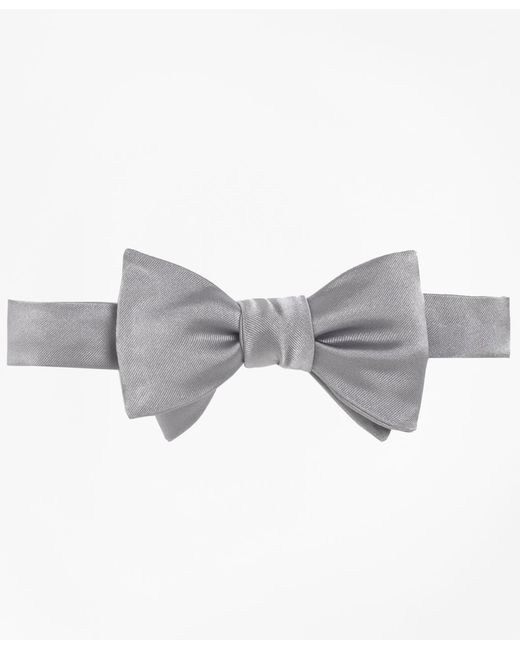 Brooks Brothers - Gray Butterfly Self-tie Bow Tie for Men - Lyst