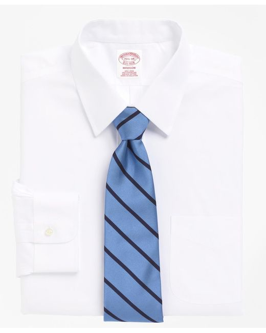 Brooks Brothers - White Non-iron Madison Fit Point Collar Dress Shirt for Men - Lyst