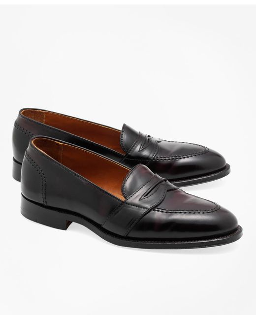 Brooks Brothers - Purple Cordovan Low Vamp Loafers for Men - Lyst