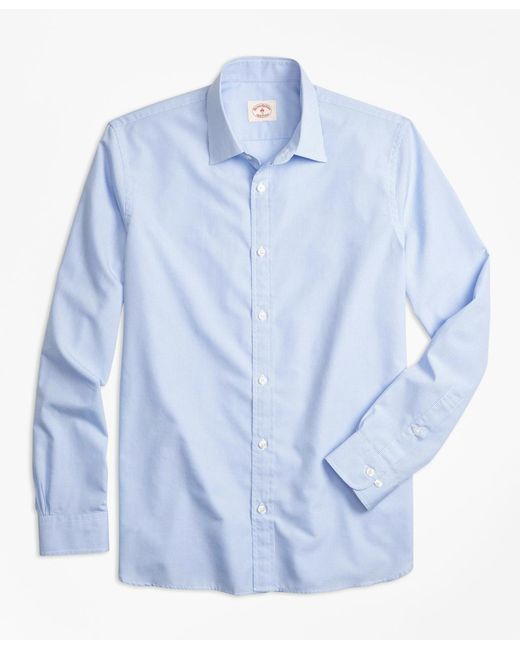 Brooks Brothers | Blue Nine-to-nine Micro-gingham Shirt for Men | Lyst