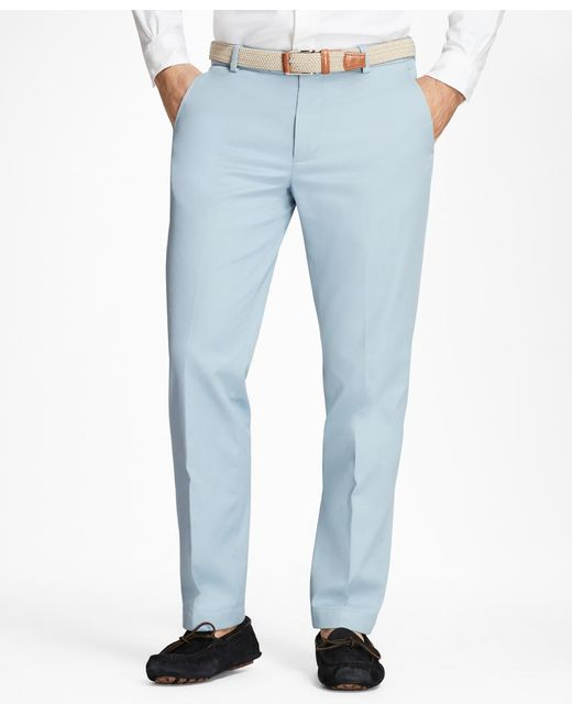 Brooks Brothers - Blue Milano Fit Supima® Cotton Stretch Chinos for Men - Lyst