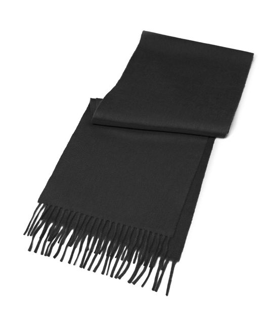 Brooks Brothers - Black Cashmere Scarf for Men - Lyst