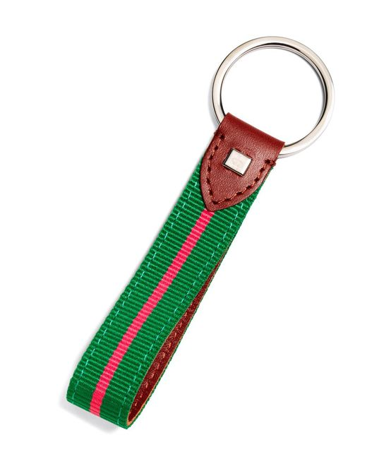 Brooks Brothers - Pink Stripe Key Fob for Men - Lyst