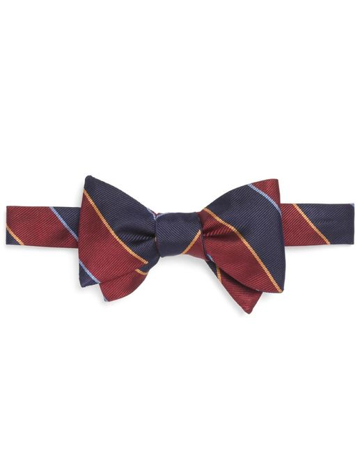 Brooks Brothers | Purple Argyle Sutherland Rep Bow Tie for Men | Lyst