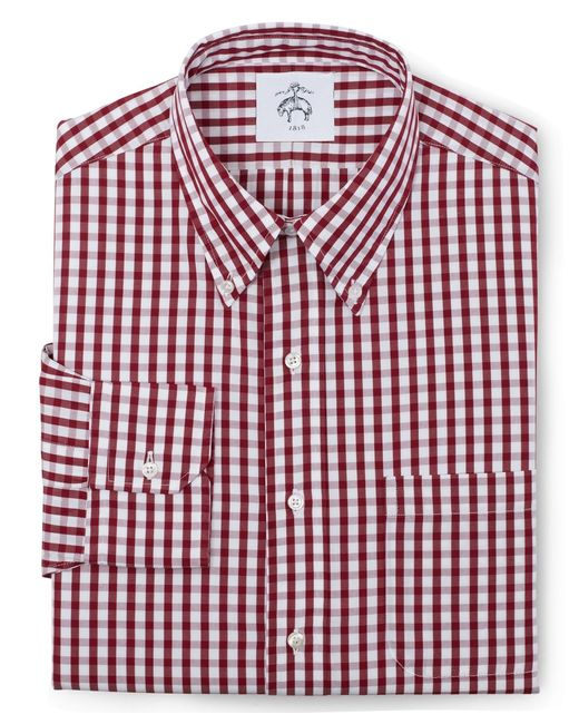 Brooks Brothers | Red Black Fleece Long-sleeve Button-down Check Shirt for Men | Lyst
