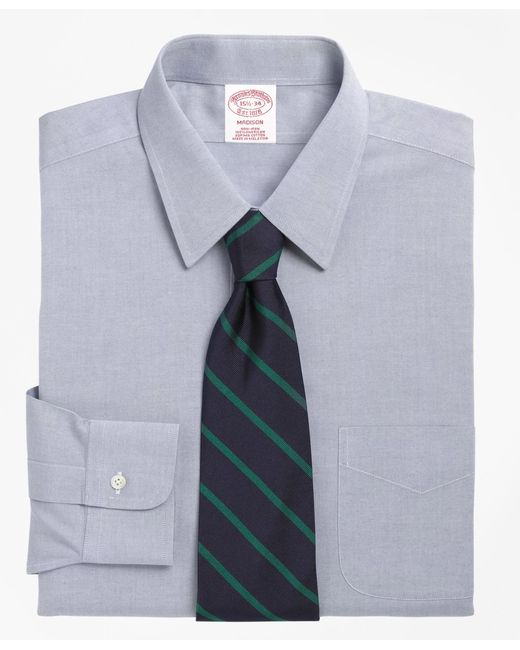 Brooks Brothers | Blue Non-iron Madison Fit Point Collar Dress Shirt for Men | Lyst