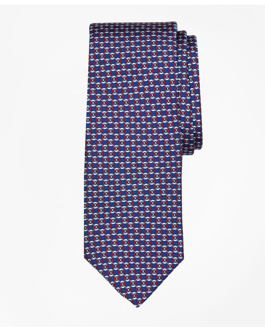 Brooks Brothers | Blue Floatation Link Print Tie for Men | Lyst