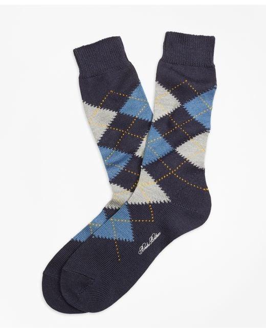 Brooks Brothers | Black Argyle Crew Socks for Men | Lyst