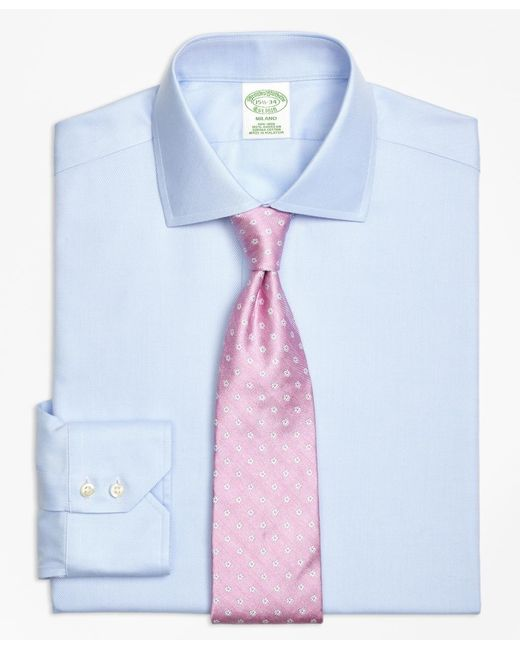 Brooks Brothers | Blue Non-iron Milano Fit Spread Collar Dress Shirt for Men | Lyst