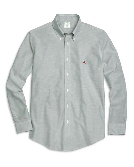 Brooks Brothers | Green Non-iron Milano Fit Oxford Sport Shirt for Men | Lyst