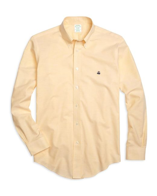 Brooks Brothers | Yellow Non-iron Milano Fit Oxford Sport Shirt for Men | Lyst
