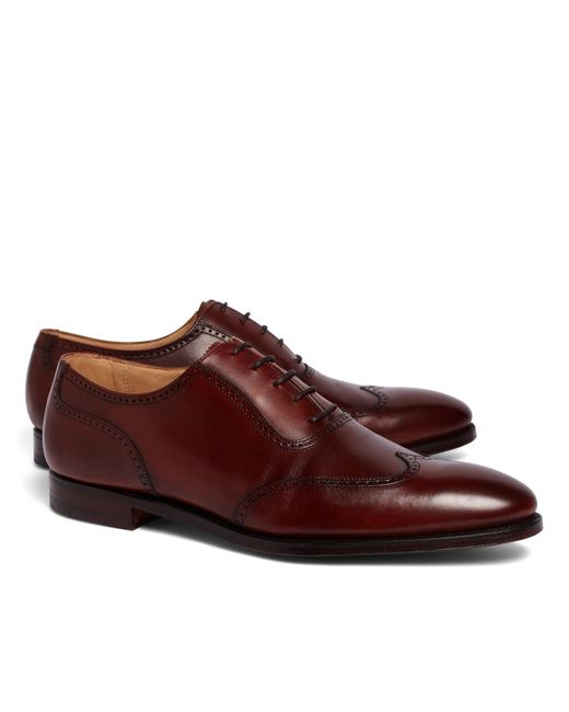 Brooks Brothers | Brown Peal & Co.® U-throat Wingtips for Men | Lyst