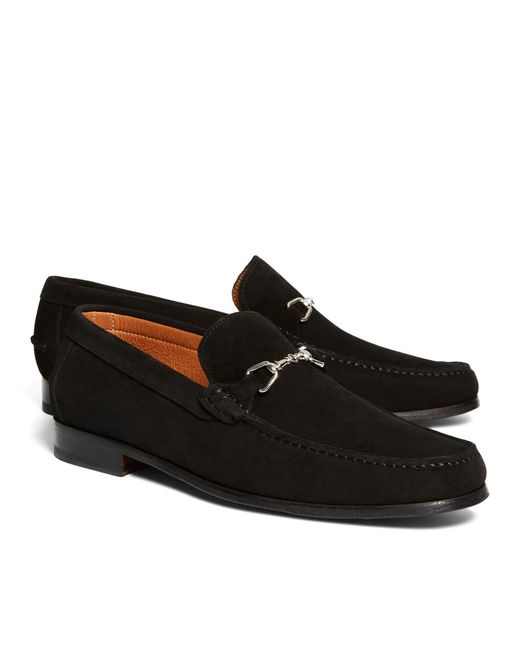 Brooks Brothers | Black Suede Buckle Loafers for Men | Lyst