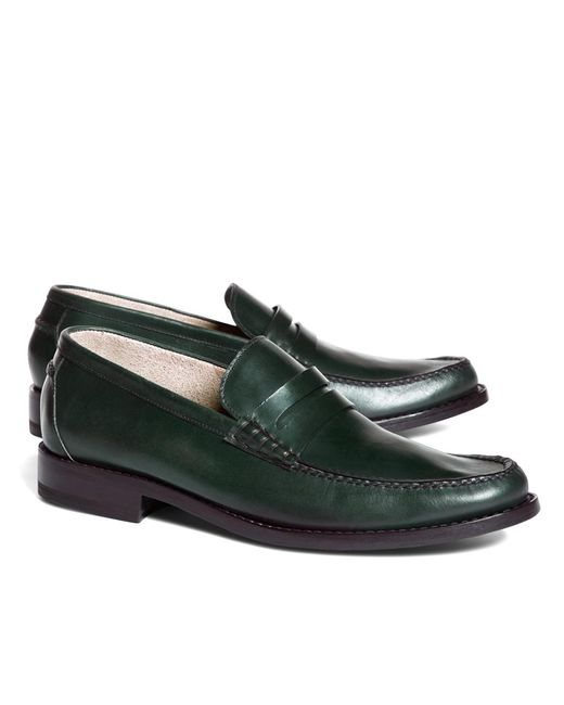 Brooks Brothers | Green Harrys Of London® Leather Dean Loafers for Men | Lyst