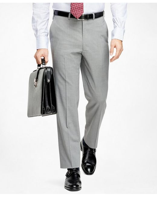 Brooks Brothers | Gray Fitzgerald Fit Brookscool® Trousers for Men | Lyst