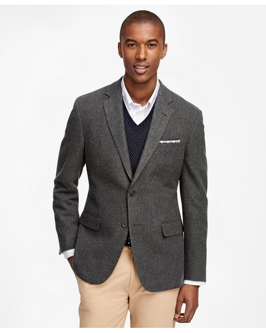 Brooks Brothers | Gray Milano Fit Two-button Wool Sport Coat | Lyst