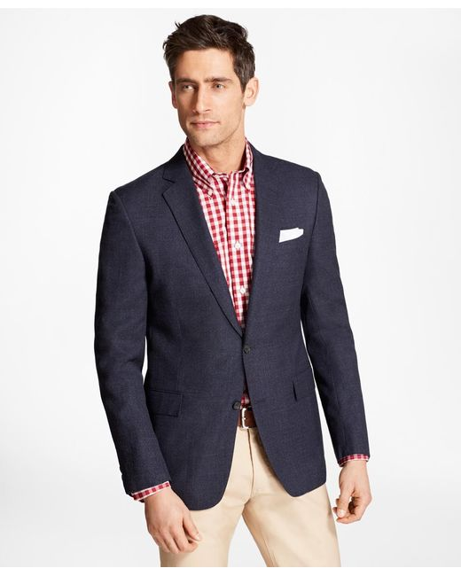Brooks Brothers | Blue Regent Fit Hopsack Sport Coat for Men | Lyst