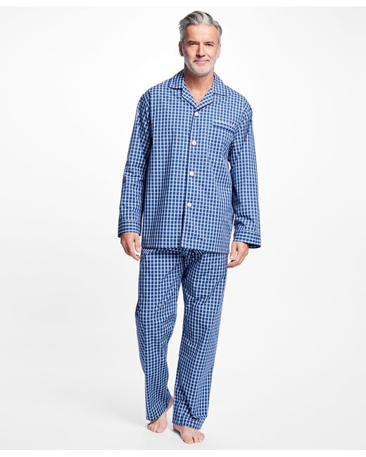Brooks brothers Graph Check Pyjamas in Blue for Men