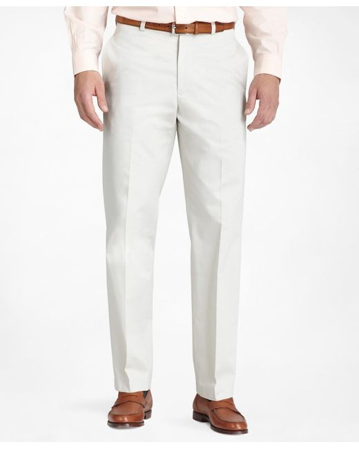 Brooks Brothers | White Hudson Fit Plain-front Lightweight Advantage Chinos® for Men | Lyst