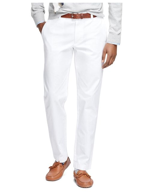 Brooks Brothers | White Milano Fit Garment-dyed Chinos for Men | Lyst