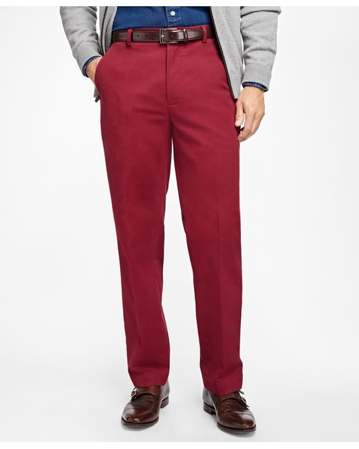 Brooks Brothers | Black Clark Fit Supima® Cotton Stretch Chinos for Men | Lyst