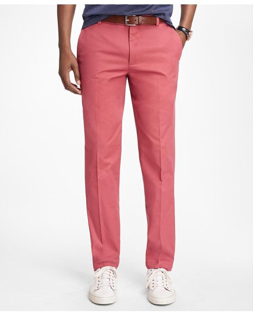 Brooks Brothers | Red Milano Fit Supima® Cotton Stretch Chinos for Men | Lyst