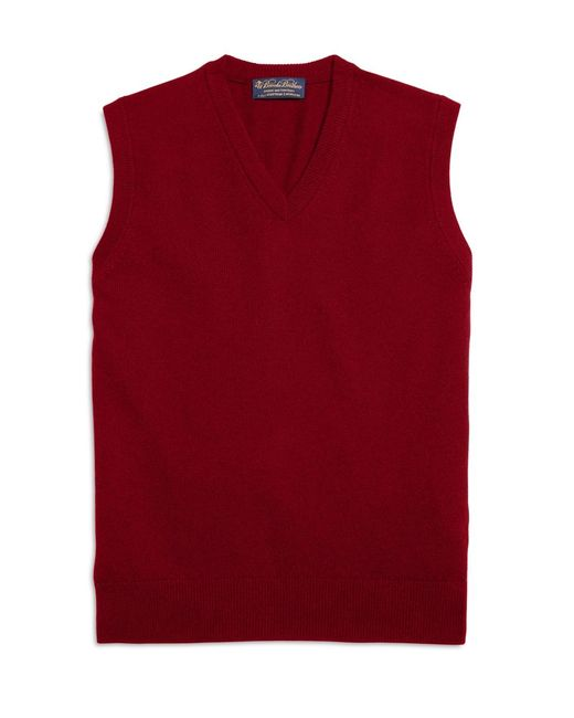 Brooks Brothers | Red Cashmere Sweater Vest for Men | Lyst