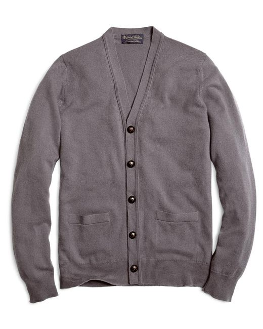 Brooks Brothers | Gray Cashmere Button-front Cardigan for Men | Lyst