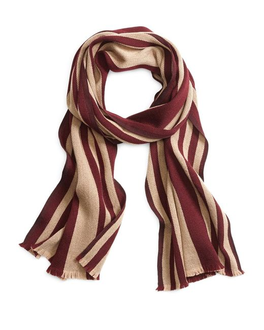 Brooks Brothers | Red Rugby Stripe Scarf for Men | Lyst