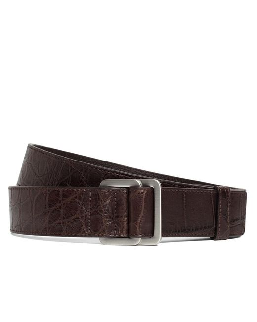 Brooks Brothers | Brown Alligator Square Ring Belt for Men | Lyst