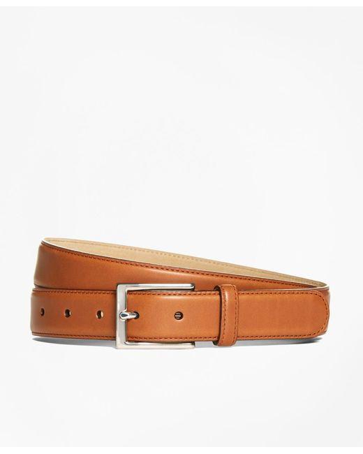 Brooks Brothers | Brown Vegtan Leather Belt for Men | Lyst