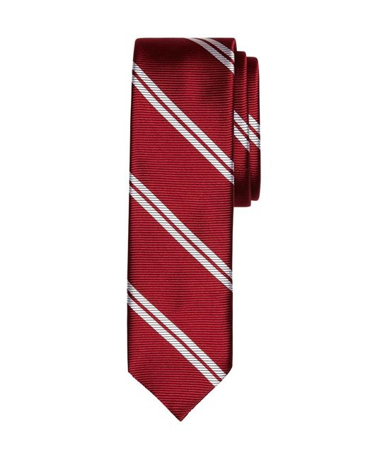 Brooks Brothers | Red Twin Stripe Slim Tie for Men | Lyst