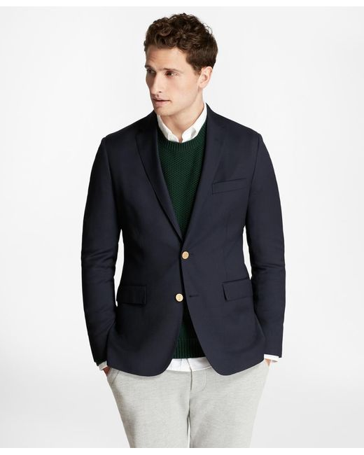 Brooks Brothers | Blue Stretch Wool Twill Blazer for Men | Lyst
