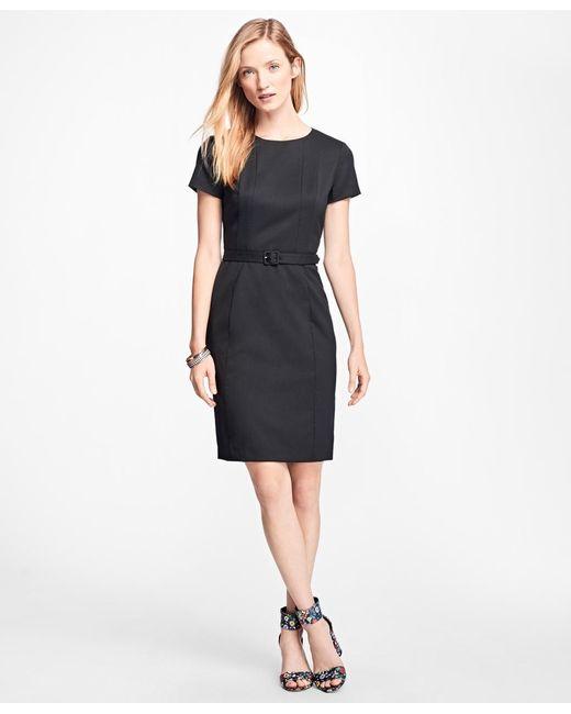 Brooks Brothers   Stretch Wool-twill Little Black Dress   Lyst