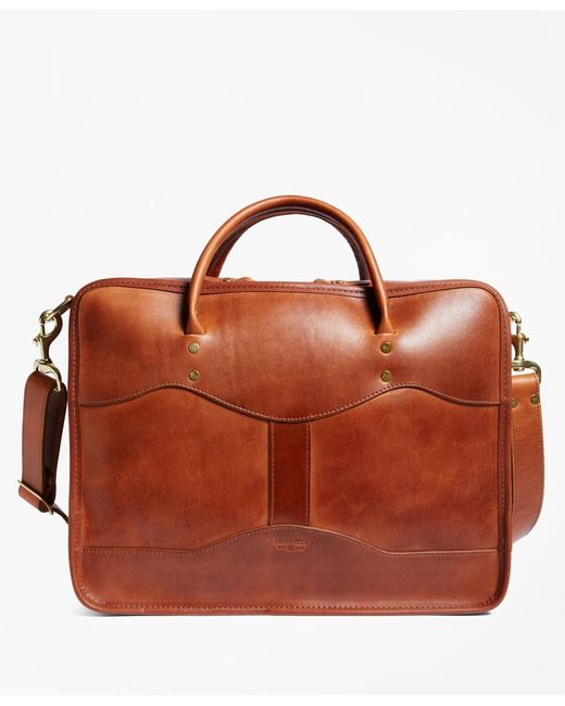 Brooks Brothers   Brown J.w. Hulme Leather Overnight Briefcaseÿ for Men   Lyst