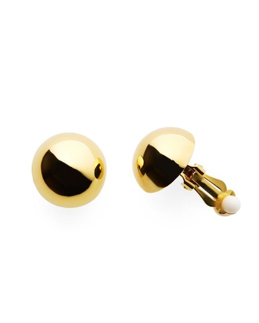 Brooks Brothers   Metallic Gold Clip On Stud Earrings   Lyst