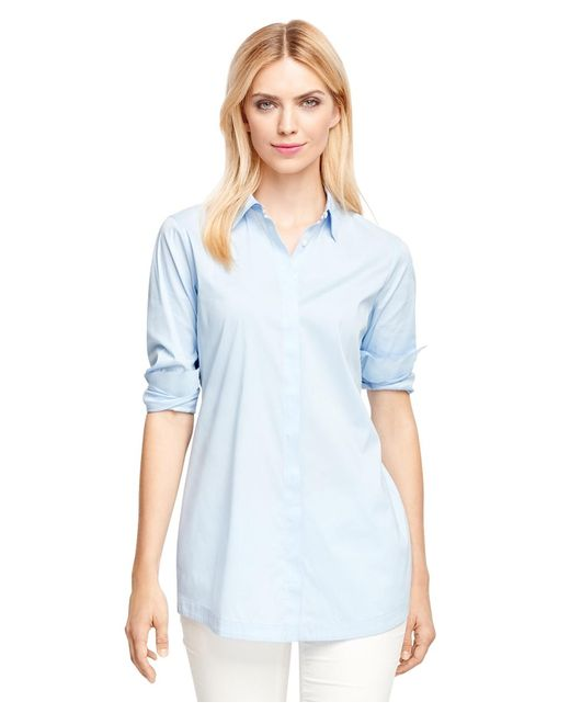 Brooks Brothers | Blue Non-iron Cotton Tunic | Lyst