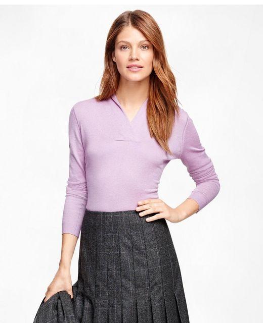 Brooks Brothers   Purple Shawl Collar Sweater   Lyst