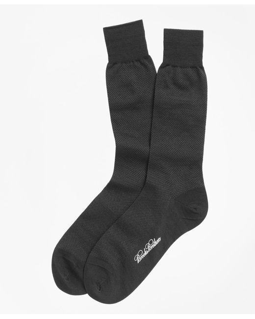 Brooks Brothers | Gray Merino Wool Mini Dot Crew Socks for Men | Lyst