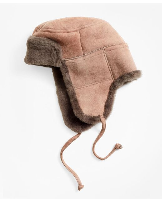 Brooks Brothers - Multicolor Shearling Trapper for Men - Lyst