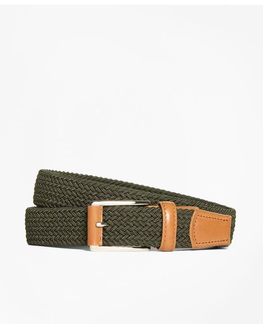 Brooks Brothers - Green Woven Belt for Men - Lyst