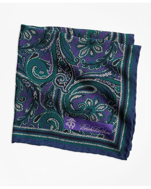 Brooks Brothers - Purple Paisley And Dot Pocket Square for Men - Lyst