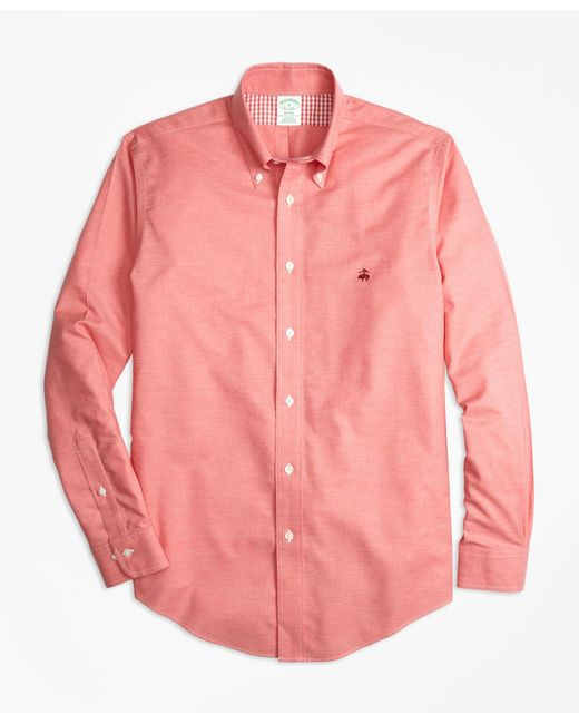 Brooks Brothers - Non-iron Regent Fit Heathered Oxford Sport Shirt for Men - Lyst